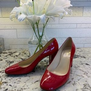 Kate Spade Chunky Patent Pumps
